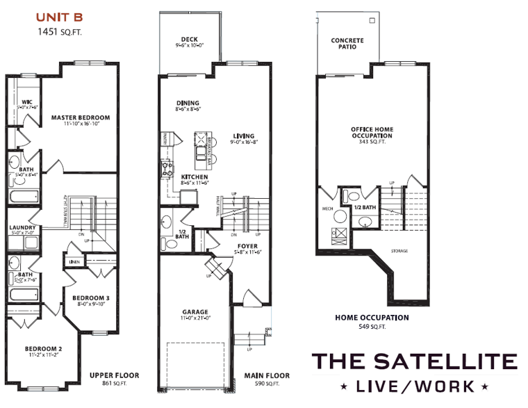 Satellite Townhomes Floorplan - Cochrane Trading Post