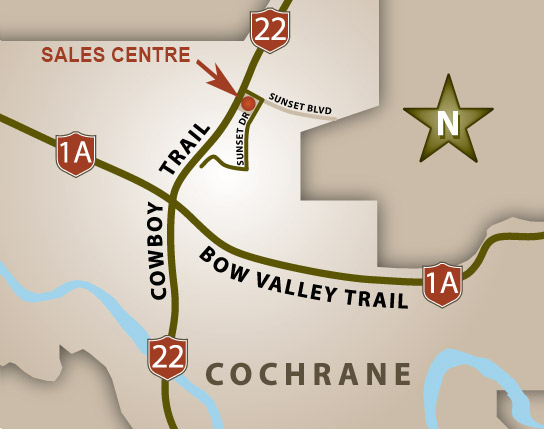 Directions to Cochrane Trading Post Map