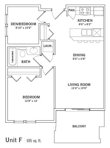 Condo Floorplan Unit-F