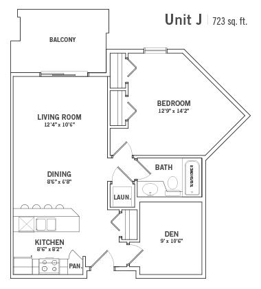 Condo Floorplan Unit-J